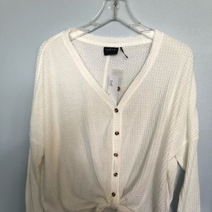 Urban Outfitters Waffle Knit Long Sleeve